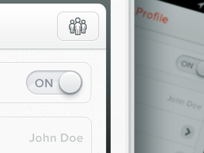 Secret iphone app ui interface iphone apps ios icon checkbox red white