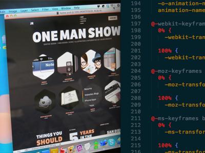 Julien Renvoye Portfolio is live! homepage webdesign css3 animation html5 web site