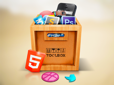 My Toolbox icons icon illustration identity graphics app icon design wood real photorealistic photoreal