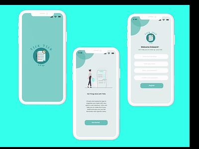 TICK TICK TO DO APP logo canva figma mobiledesign uidesign todoappp