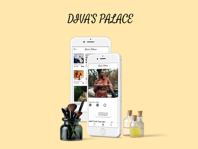 My first project- Diva's Palace branding ui