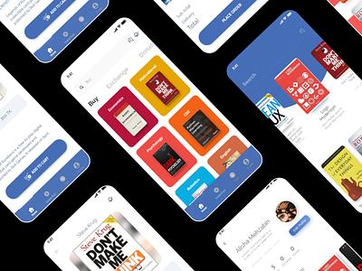 Book Basket App app design book app ux design ux ui uidesign minimal design app