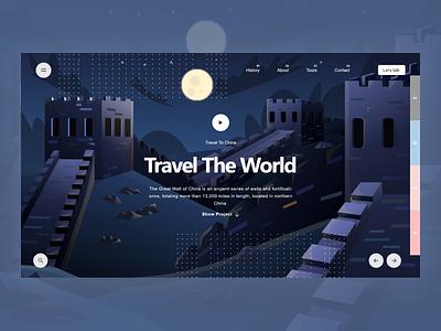 Travel Landing page design minimal uidesign ui hero section landing page travel