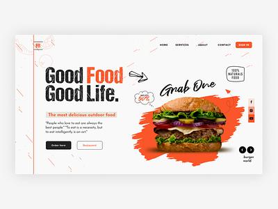 Food Landing Page popular shot trendy delivery landing page ui ux design food app foodapp app uidesign ui minimal design