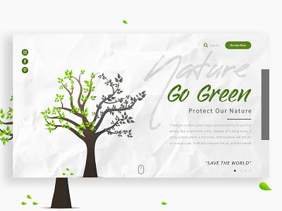 Nature Landing Page branding popular shot minimal mi landing page interface web website design homepage web design ui design