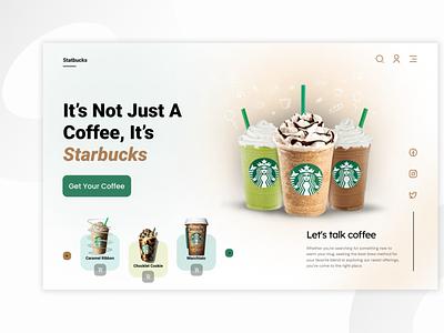 Starbucks Website UI branding popular shot uidesign design minimal ui landing website webpage landing page design webdesign homepage food order landing page