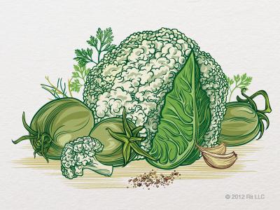 Cauliflower   green tomato