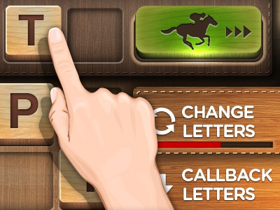 Word Game game iphone race app interface wood horse