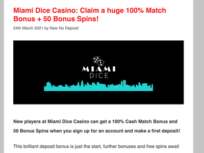 Miami Dice Casino Review casino review casino bonus casinoreview casinodesign casino games casinobonus