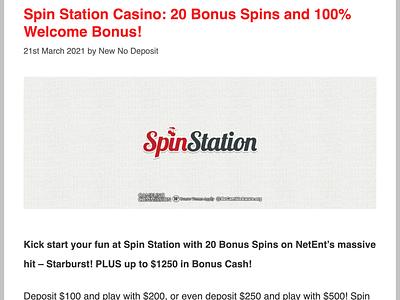 Spin Station Casino Review casinoreview casinodesign casino games casinobonus