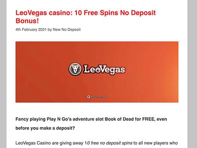 Leo Vegas Review casino bonus casinoreview casinodesign casino games casinobonus