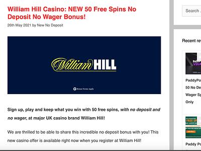 William Hill Casino Bonus casino bonus casinoreview casinodesign casino games casinobonus
