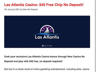 Las Atlantic Casino Free Chip casino review casino bonus casinoreview casinodesign casino games