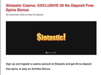 Slotastic Casino 50 Free Spins casino review casino bonus casinoreview casinodesign casinobonus casino games
