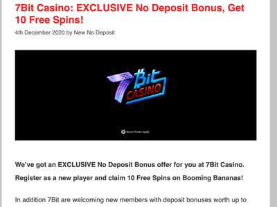 7Bit Casino Review and 10 Free Spins casino review casino bonus casinoreview casinodesign casinobonus casino games