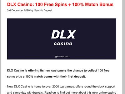 DLX Casino Review/Bonus casino review casino bonus casinoreview casinodesign casinobonus casino games