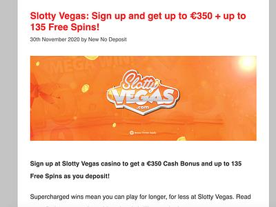 Slotty Vegas Casino casinoreview casinodesign casinobonus casino games