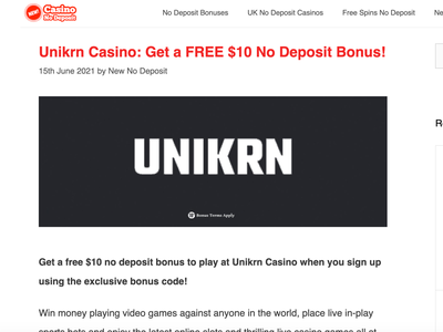UNIKRN Casino $10 Free casinoreview casinodesign casinobonus casino games