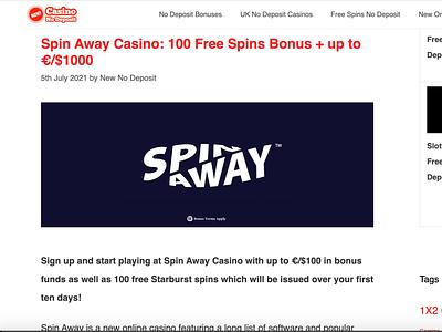 Spin Away Casino Bonus casino review casino bonus casinoreview casinodesign casinobonus casino games