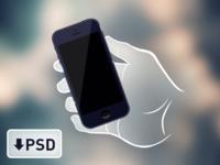Vector hand & iPhone 5 PSD freebie