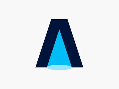A - Light   Lettermark