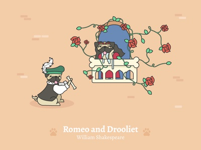 Romeo and Drooliet - Social Media Pun Illustrations
