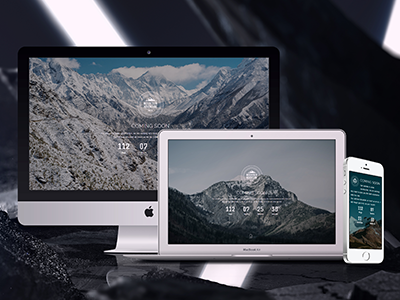Mountain - Responsive Coming Soon construction under themeforest launching home fullscreen soon coming