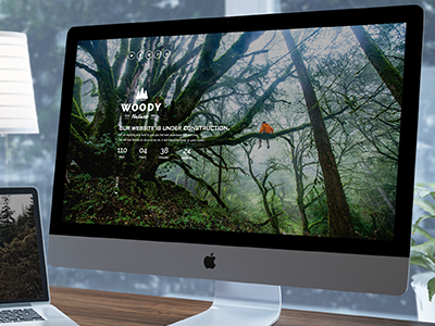 Woody - Responsive Coming Soon construction under themeforest launching home fullscreen soon coming