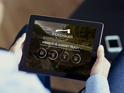 Woodsman - Responsive Coming Soon construction under themeforest launching home fullscreen soon coming