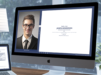 Henderson - Responsive VCard Template virtual business card vcard resume responsive portfolio personal minimal jquery flat creative clean business