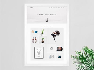 Glacier - Minimal WordPress Portfolio Theme simple portfolio photography parallax modern minimal grid creative concept clean business agency