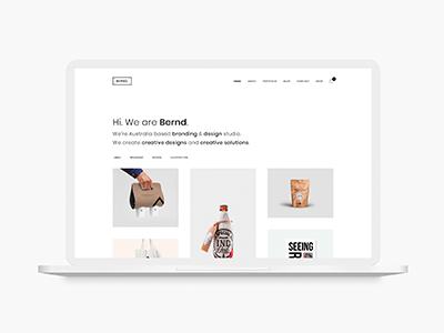 Bernd - Minimal WordPress Portfolio Theme simple portfolio photography parallax modern minimal grid creative concept clean business agency