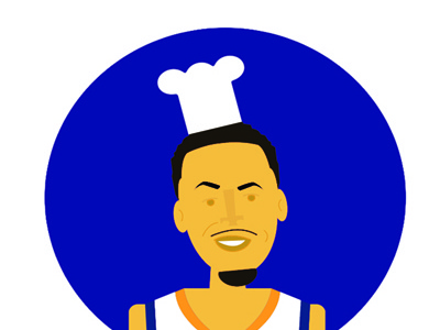 The Chef illustration art vector design chef steph golden state basketball nba curry