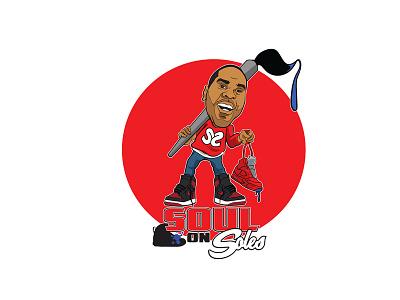 Soul on Soles illustrator vector custom sneaker head sneaker shoes design logo