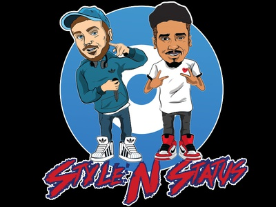 Style N Status character illustrator illustration t-shirt vector cartoon supreme design
