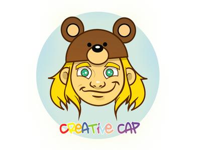 Creative Cap vector adobe hat bear boy logo design cap