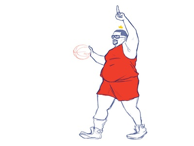 Cream Biggums ballislife hoopmixtape design character nba basketball
