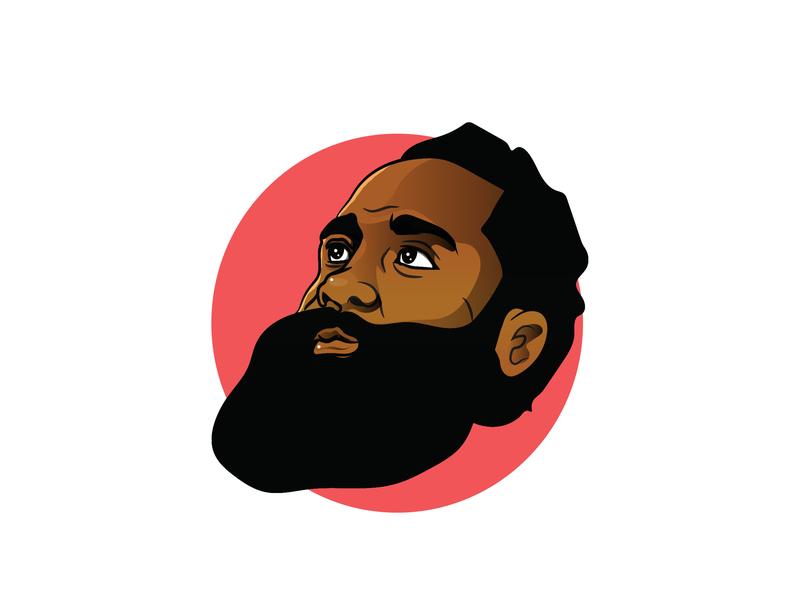 Hardin james typography nba basketball character illustration design