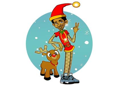 Elf illustration design elf holidays christms