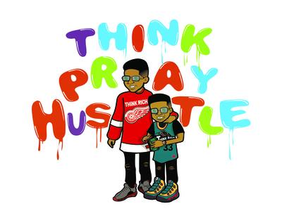 Think Rich Clothing vector basketball cartoon character clothing art illustration design