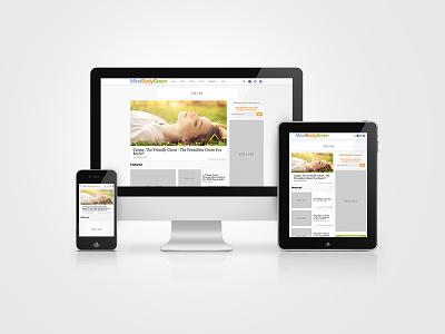 Responsive Design // Mind Body Green responsive web design health wellness mindbodygreen editorial content publisher