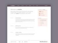 revitalize - logged in homepage