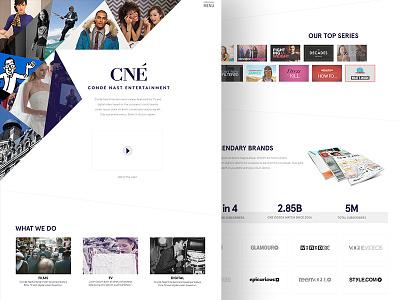 Condé Nast Entertainment - About Page about web website ui ux