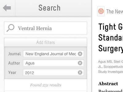 docwise - search docwise doctors ipad app medical reading ereader articles news journals ios search filters