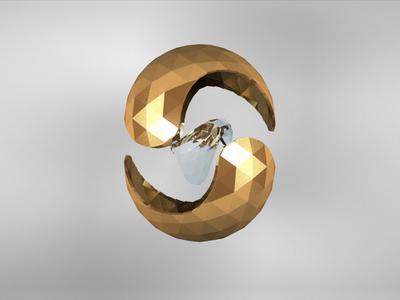 Golden Sphere vs Black crystal
