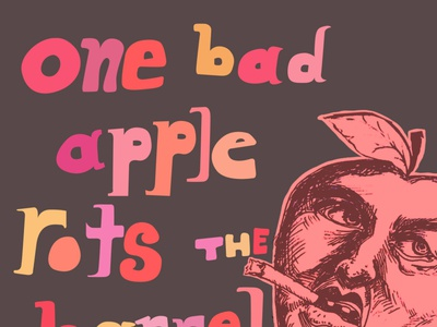Bad Apple digital art artwork art acab blm typography design illustration