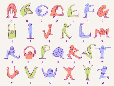 Goofy Alphabet illustration digitalart design digital art artwork