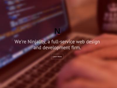 Ninjality Landing Page web design ninjality css html