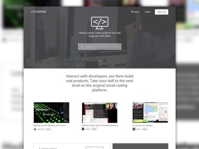 LCTV Redesign media mockup redesign sketch website