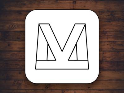 KM Logo Mark Concept m k mk km concept mark logo